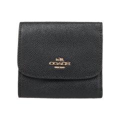 【包邮包税】COACH/蔻驰SMALLWALLET皮质女包短款钱包玫红色87588图片