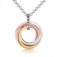 HOT DIAMONDS/HOT DIAMONDS【定制】英国S925银 白色瑞士钻 简约圈圈项链 DP543/DP544图片