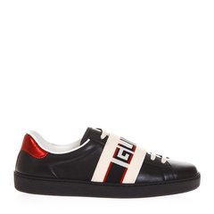 GUCCI/古驰 Ace系列男士牛皮LOGO条纹休闲运动鞋小白鞋板鞋男鞋 多色可选图片
