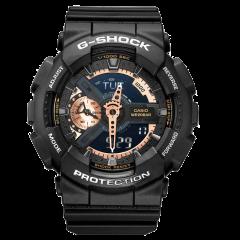 CASIO/卡西欧  G-SHOCK系列 GA-110 G-SHOCK大表盘双显黑金电子表多功能防震防水运动手表图片