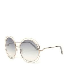 CHLOE/克洛伊 太阳镜CE114S女士圆框复古墨镜 时尚落空设计太阳眼镜 明星款图片