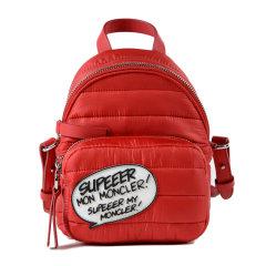 【18春夏】 Moncler/蒙克莱 女士 尼龙 双肩包 时尚 印花 黑色 3032 尺寸:16cmx19cmx11cm 肩带尺寸: 50 cm图片