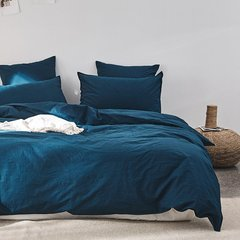 GeleiStory/GeleiStory回归自然系列水洗棉蓝紫系家居四件套 被罩床罩被单枕套4件套 换季特惠 店铺特惠图片