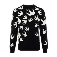 McQ/McQ混合材质燕子印花图案套头男卫衣图片