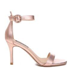 BENATIVE/本那2018春夏新品露趾中空女士高跟鞋 性感简约纯色一字带凉鞋图片