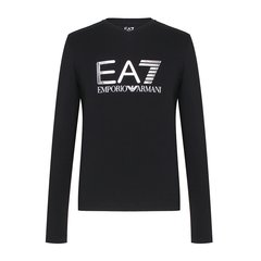 【17秋冬新品】 Emporio Armani/安普里奥阿玛尼 EA7系列 男士V领棉质品牌字母印花T恤  6YPT58 男士长袖T恤图片