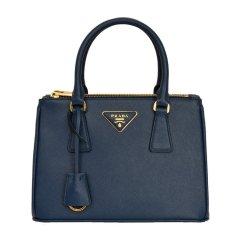 【现货】PRADA/普拉达 女士皮质深蓝、玫红色牛皮中号杀手包手提包单肩包斜挎包图片