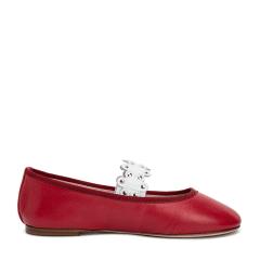 RedValentino/RedValentino羊皮材质铆钉装饰女士平跟鞋图片