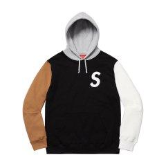 Supreme 19SS S Logo Colorblocked Sweatshirt拼接 刺绣帽衫图片