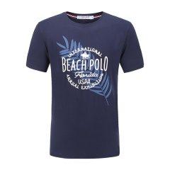 U.S.POLO ASSN./U.S.POLO ASSN.美国马球协会男19年夏季时尚圆领上衣logo印花男士短袖T恤图片