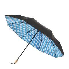 MISS RAIN/MISS RAIN MISSRAIN X H.Lan跨界款 晴雨两用遮阳伞女黑胶防晒雨伞防紫外线 枫木手柄 黑胶防晒 2018新品图片