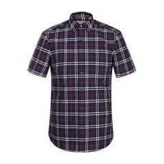 格纹系列 BURBERRY/博柏利  VINTAGE格纹纯棉男士短袖衬衫男士上装男装40670441图片