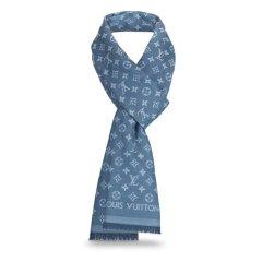 Louis Vuitton/路易威登中性款式  100%棉  MONOGRAM ESSENTIAL 男款 长围巾M71618图片