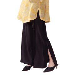 SHENGJIANG/生姜原创女装宽松阔腿裤开衩裤腿女士休闲裤禅意复古新中式11928108图片