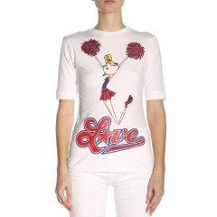 love Moschino/love Moschino 20春夏 女装 服饰 棉质字母logo图案圆领半袖 女士短袖T恤图片