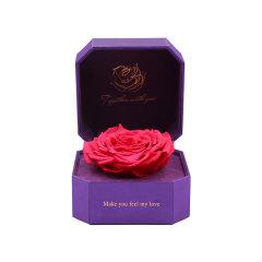 GeleiStory/GeleiStory厄瓜多尔巨形永生花礼盒限量款紫礼盒 限量双彩色情人节礼物 店铺特惠图片