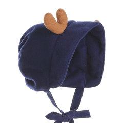 Hanakimit婴儿胎帽儿童帽羊毛满月宝宝保暖挡风帽鹿角卖萌帽子KM085图片