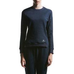 后秀/HOTSUIT 17年运动卫衣女款圆领休闲上衣 BLACK LABEL/后秀黑标 66048070图片