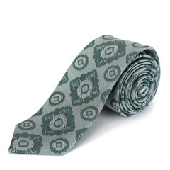 桑蚕丝领带 BURBERRY/博柏利 桑蚕丝绿色印花男士领带