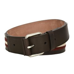 BALLY/巴利  TIANIS针扣条纹男士商务休闲腰带 6187224图片