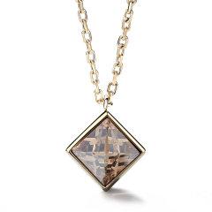 【Designer Jewelry】brosway/宝思薇意大利设计 施华洛世奇元素水晶时尚欧美风锁骨链吊坠女士项链图片