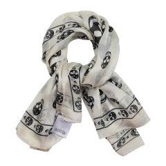 Alexander McQueen/亚历山大麦昆  骷髅图案印花时尚男士丝巾 围巾  多色可选  1106404Q010图片