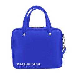 Balenciaga/巴黎世家 女士蓝色/黑色/粉色皮质字母印花LOGO单肩斜挎两用包 528544 C8K02图片