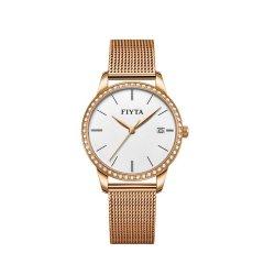 FIYTA/飞亚达 女士手表防水石英表镶钻女表时尚米兰钢织带手表女潮流简约图片