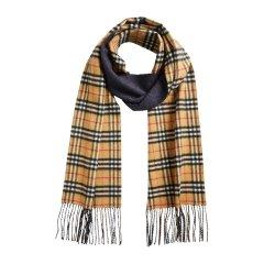 BURBERRY/博柏利 双面两用格纹羊绒中性款围巾#图片