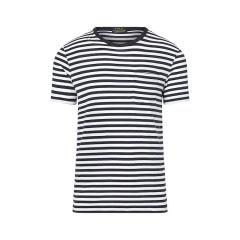 Ralph Lauren/拉夫劳伦  CUSTOM-FIT 舒适圆领纯棉条纹短袖T恤 121913006图片