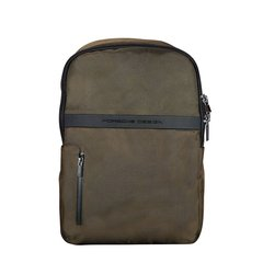 【奢品节可用券】PORSCHE DESIGN/PORSCHE DESIGN 保时捷设计 男士时尚双肩背包便携式电脑包墨绿色图片