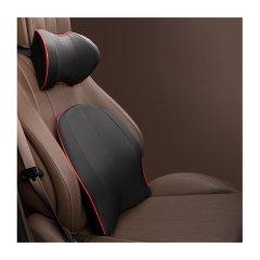 QUEES/乔氏 汽车头枕护颈枕靠枕 车用枕头腰靠 太空记忆棉 打孔皮革面料图片