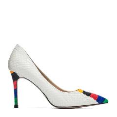 BENATIVE/本那舒适优雅多彩拼色系列女鞋 七彩蛇皮尖头女士跟鞋高跟鞋BN01815010图片