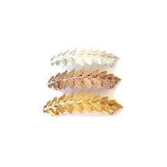【Designer Jewelry】Avigail Adam美国纽约手工制造艺术风格女式Athena系列雅典娜系列树叶弹簧夹头饰Athena Leaf Barrette图片