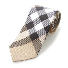 BURBERRY/博柏利  卡其色真丝男士领带