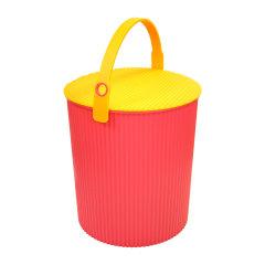 Omnioutil利快日本进口炫彩桶多功能收纳桶储物凳带盖坐凳食品收纳   20升  (食品级材质)图片
