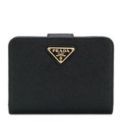 PRADA/普拉达 女士纯色钱包皮夹钱夹子卡包零钱包  多色可选图片