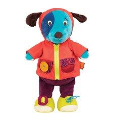 B.toys/比乐 爱笑的河马/爱笑的猎狗/爱笑的斑马  学习穿衣笑声玩偶 可水洗 2岁以上图片