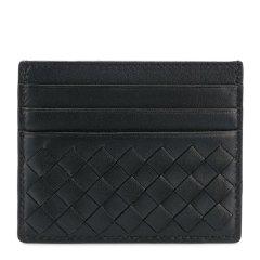 Bottega Veneta/葆蝶家  中性羊皮编织7卡位钱包卡包图片