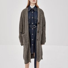 MO&Co./摩安珂女士针织衫/毛衣MOCO2018秋季新品V领纽扣针织开襟羊毛外套MA183CAR309图片