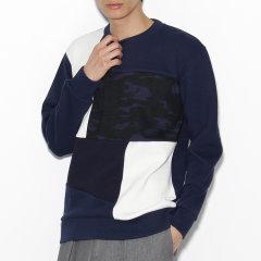 TAKEO KIKUCHI/菊池武夫 男士拼布撞色设计圆领针织衫 97932406图片