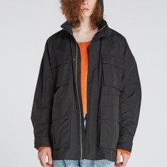 kktp 外套 拉链夹克 男式工装休闲夹克 黑色绿色中长款外套图片