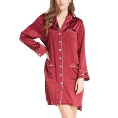 【DesignerWomenwear】LILYSILK/莉莉秀客女睡衣/家居服22姆米真丝睡袍桑蚕丝经典设计丝绸睡衣图片