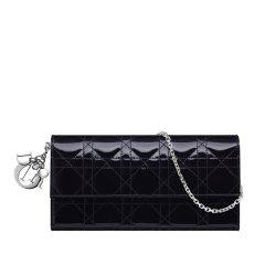 【满8000返2000】【包邮包税】DIOR/迪奥   经典女士Lady Dior Cruise小牛皮漆皮银扣钱包 (3色可选)图片