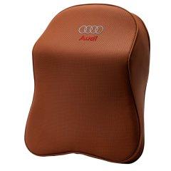 NATU  奥迪专用 记忆棉皮革头枕腰靠奥迪A6L A5 Q7 Q5 Q3 A8L A4L A3 汽车护颈枕靠垫 汽车头枕腰靠图片