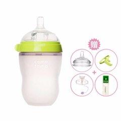 comotomo 可么多么 韩国原装进口防摔防胀气宽口硅胶250ML奶瓶(买一赠四)图片