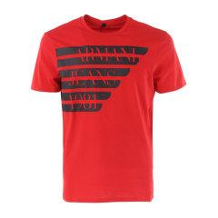 ARMANIJEANS/阿玛尼牛仔 男士T恤-纯棉圆领红色-男士短袖T恤 3Y6T196J00Z图片