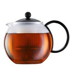 丹麦bodum波顿水壶1000ml阿萨姆系列进口玻璃茶壶 耐热家用花茶壶过滤图片