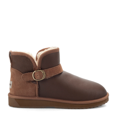 COZY STEPS/COZY STEPS真皮羊毛内里雪地靴男士靴子 咖啡色 41图片