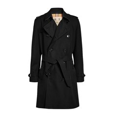 【包邮包税】Burberry/博柏利 20春夏 男装 服饰 肯辛顿版型 纯棉双排扣束腰修身长款 男士大衣外套图片